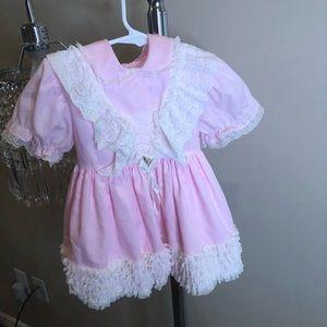 Adorable light pink ruffled dress